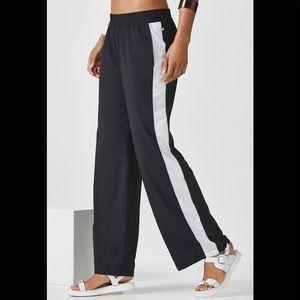 Fabletics Annika black & white track pants